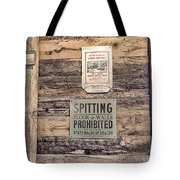 Spitting Prohibited Tote Bag