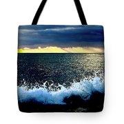 Splash At Sunset Tote Bag