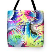 Splash Of Color Abstract Tote Bag