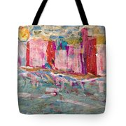 Splash Of Happy On A Hot City Day Tote Bag