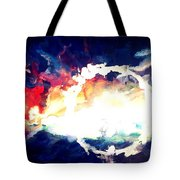 Splashed Sunset Tote Bag