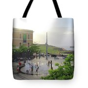 Splashing In Old San Juan Tote Bag