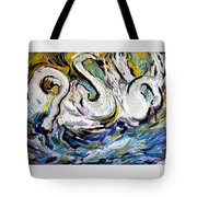 Splashing Swans Tote Bag