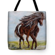 Splashing The Light - A Young Horse Tote Bag