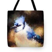 Splatter Art - Blue Jay Tote Bag