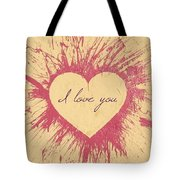 Splattered Love Tote Bag