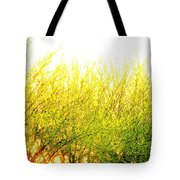 Yellow Splatter Tote Bag