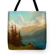 Splendor Of The Grand Tetons - Wyoming Territory Tote Bag