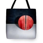 Split Circle Red Tote Bag