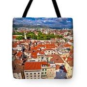 Split Old City Center Aerial View Tote Bag