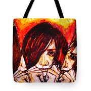 Split Personality Tote Bag