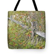 Split Rail Fence And Poison Ivy Tote Bag