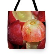 Split Red Grapes Tote Bag