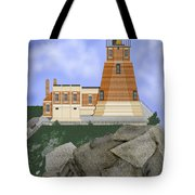 Split Rock Lighthouse On The Great Lakes Tote Bag