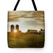 Split Silo Sunset Tote Bag