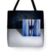 Split Square Blue Tote Bag