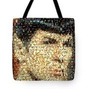 Spock Star Trek Mosaic Tote Bag by Paul Van Scott
