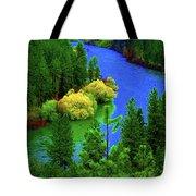 Spokane River Blues Tote Bag
