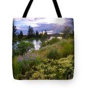 Spokane River Wildflowers Tote Bag