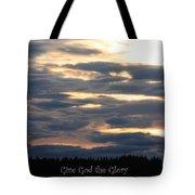 Spokane Sunset - Give God The Glory Tote Bag