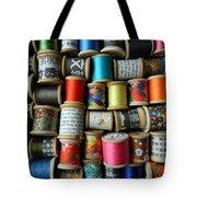Spools Tote Bag by Jen Hardwick