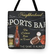 Sports Bar Tote Bag