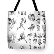 Sports Figures Collage Tote Bag