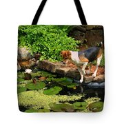 Sporty At The Lily Pond Tote Bag