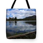 Sprague Lake Cloud Reflection Tote Bag