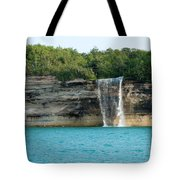 Spray Falls On The Water Tote Bag