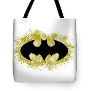 Spray Paint Batman Logo Tote Bag