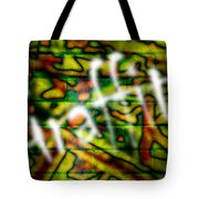 Spray Painted Graffiti Tote Bag