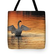 Spreading Her Wings In Gold Tote Bag