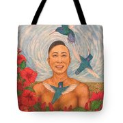 Spring Amazed By The Hummingbirds Tote Bag