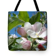 Spring Apple Blossoms Pink White Apple Trees Baslee Troutman Tote Bag