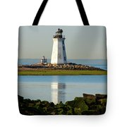 Spring At The Lighthouse Tote Bag