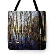 Spring At The Pond Tote Bag