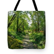 Spring At The Urban Oasis Portrait Tote Bag