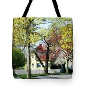 Spring Begins In The Suburbs Tote Bag