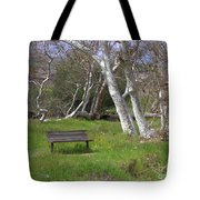 Spring Bench In Sycamore Grove Park Tote Bag