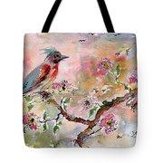Spring Bird Fantasy Watercolor  Tote Bag