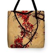 Spring Bloosom In Maldives. Flamboyant Tree I.  Japanese Style Tote Bag