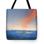 Spring Bluebonnets In Texas Tote Bag