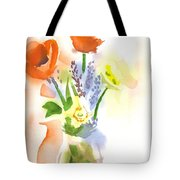 Spring Bouquet II Tote Bag by Kip DeVore