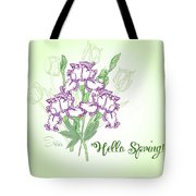 Spring Bouquet  With Three Irises.  Tote Bag