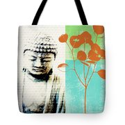 Spring Buddha Tote Bag by Linda Woods