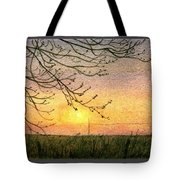 Spring Buds Sunset Tote Bag