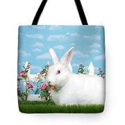 Spring Bunny Loves His Carrots Tote Bag