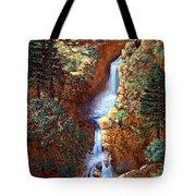 Spring Cascade Tote Bag
