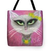 Spring Cat Tote Bag